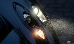 Pagani Huayra Headlight Nightime Mist