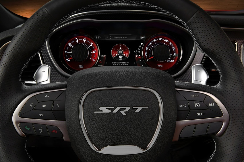 2015 Dodge Challenger SRT Hellcat Boost Gauge screen