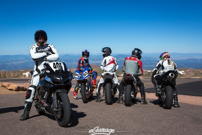 Pikes Peak 2014 motorcyclists