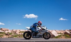Pikes Peak motorcyclist