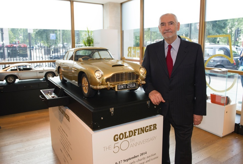 Michael G Wilson Producer EON Productions Aston Martin DB5 Gold For Charity