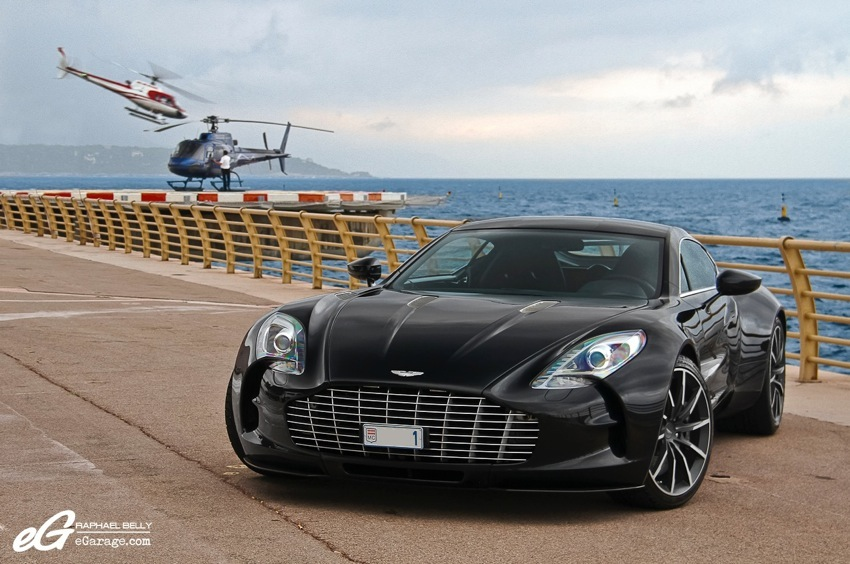 Aston Martin One-77 Helicopter Monaco