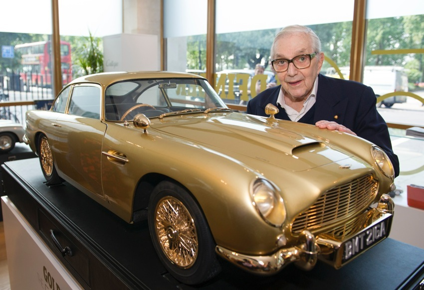 Sir Ken Adam Production Designer Goldfinger Aston Martin DB5 Gold For Charity