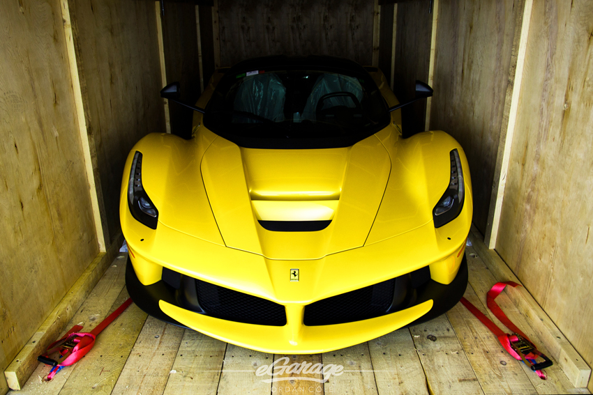 Yellow Ferrari LaFerrari Front