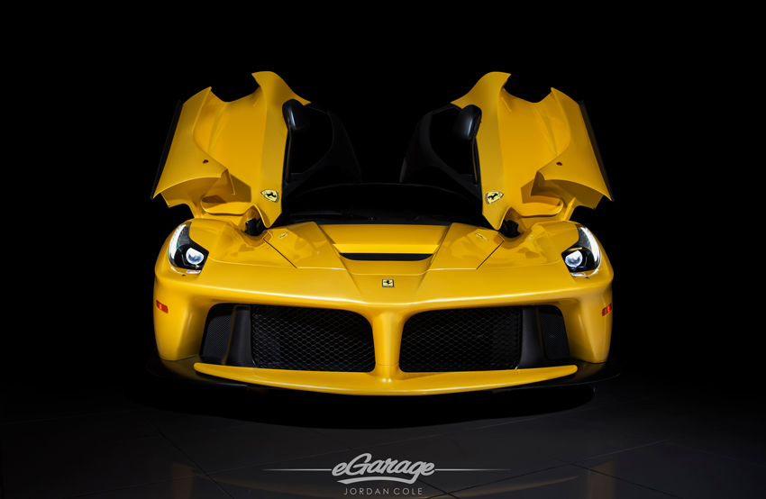 Yellow Ferrari LaFerrari Doors