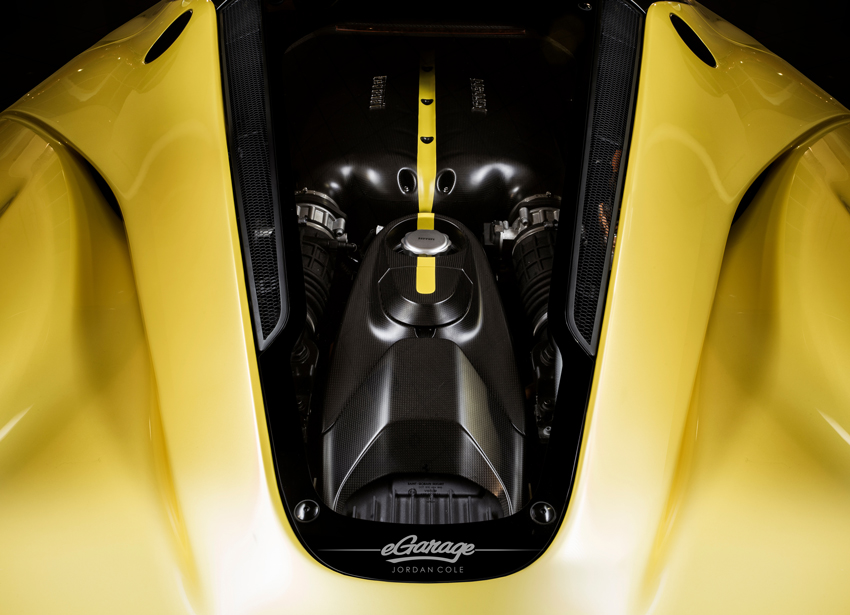 Yellow Ferrari LaFerrari Bonnet