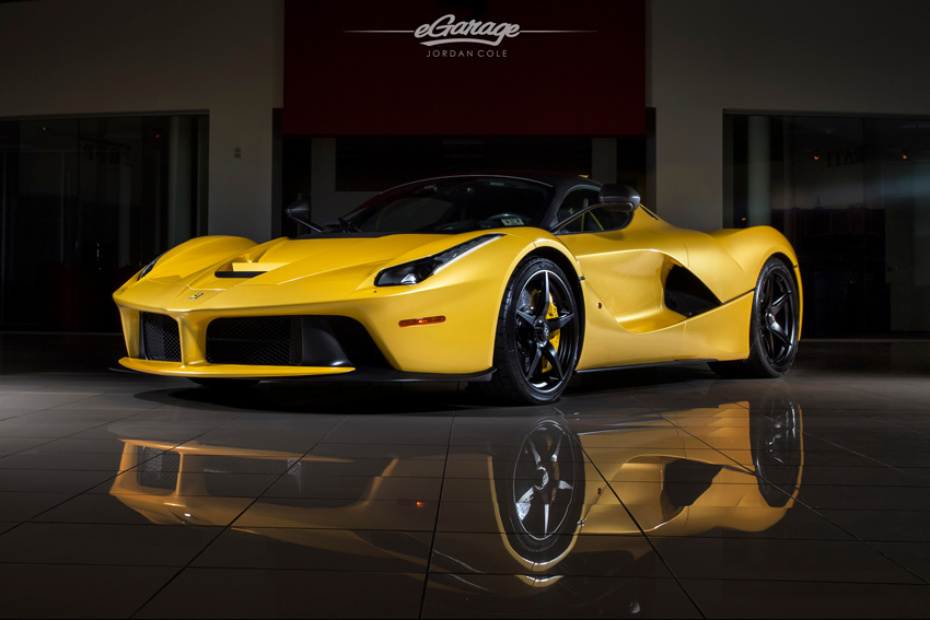 Yellow Ferrari LaFerrari Front Quarter