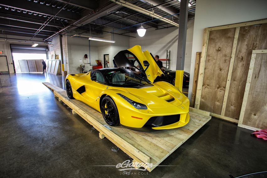Yellow Ferrari LaFerrari Front Quarter Left