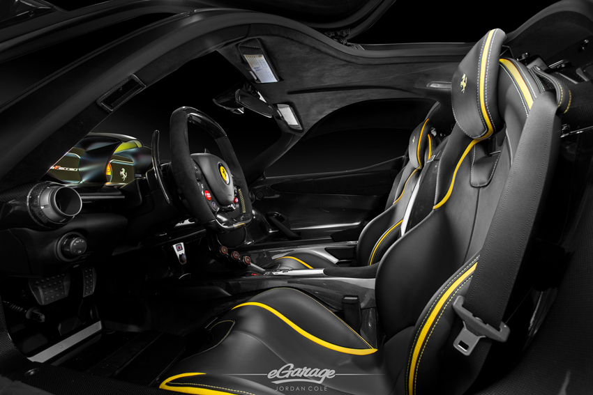 Yellow Ferrari LaFerrari Interior