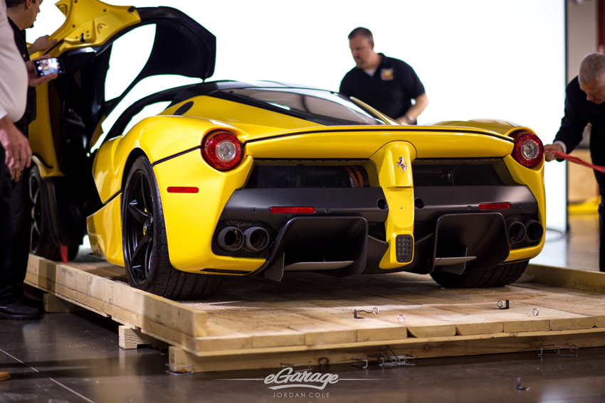 Yellow Ferrari LaFerrari Rear