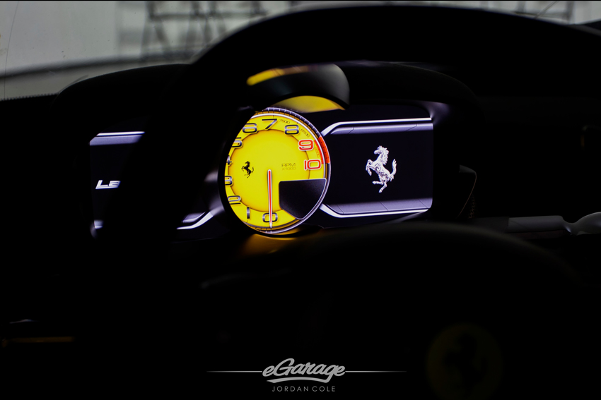 Yellow Ferrari LaFerrari Gauge