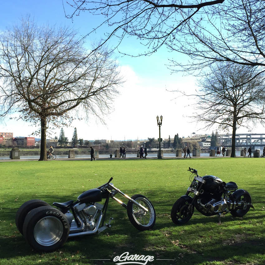 Confederate X132 and Exile Trike in Portland