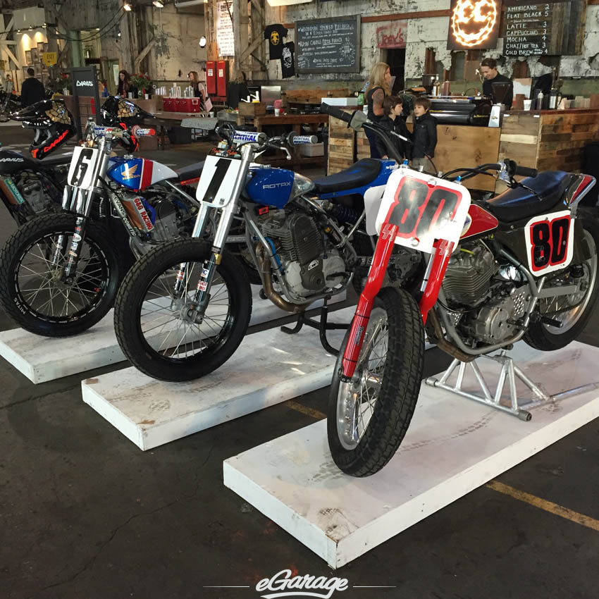 Flat track motorcycles