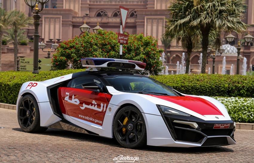 W Motors Lykan Hypersport Abu Dhabi Police