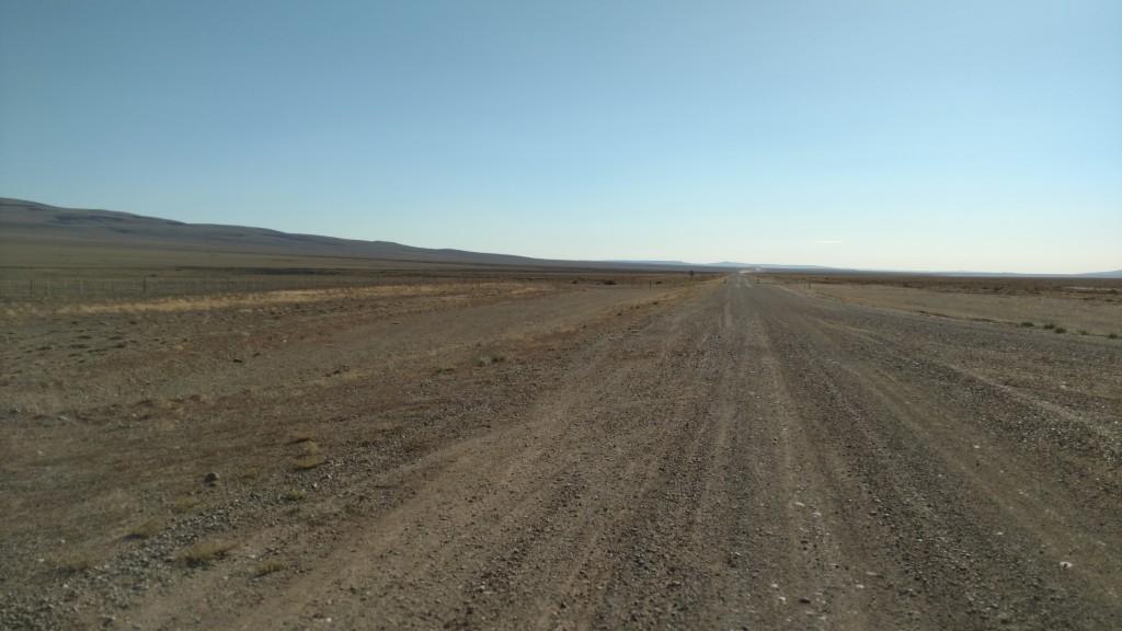 Dirt straight Ushuaia
